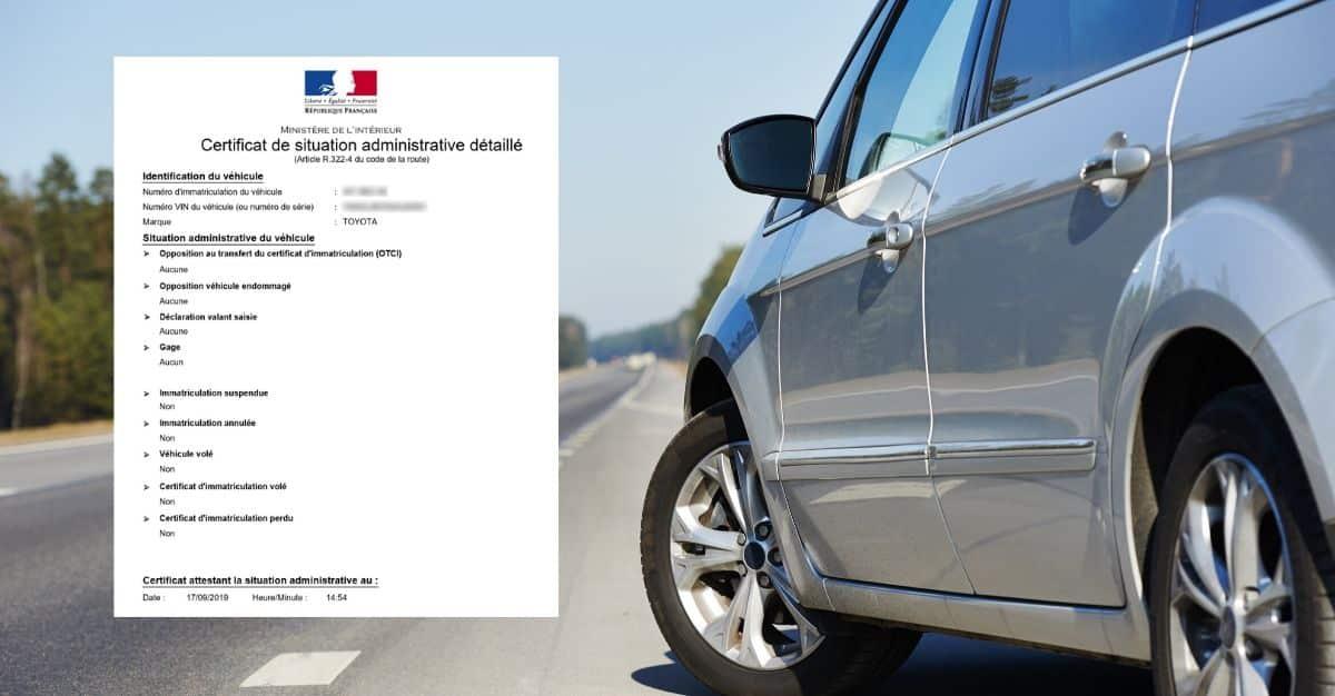 certificat de situation administrative