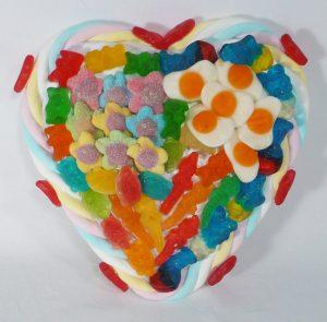 gateau bonbon coeur